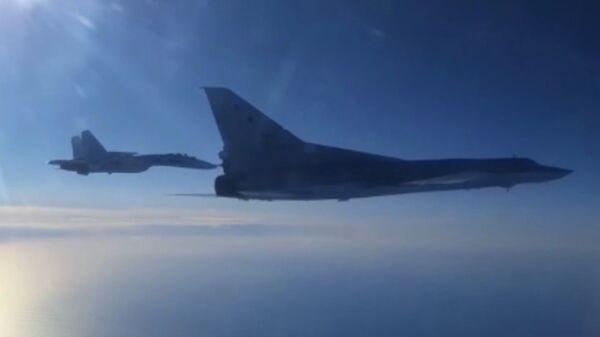 Дальний бомбардировщик Ту-22М3 Воздушно-космических сил России   - Sputnik Polska