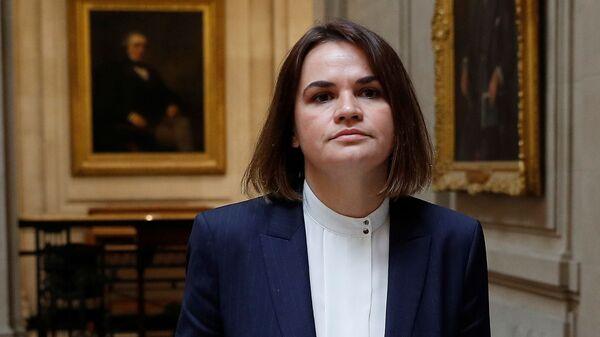 Лидер белорусской оппозиции Светлана Тихановская в Лондоне - Sputnik Polska
