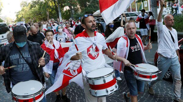 Протесты у посольства Белоруссии в Киеве - Sputnik Polska