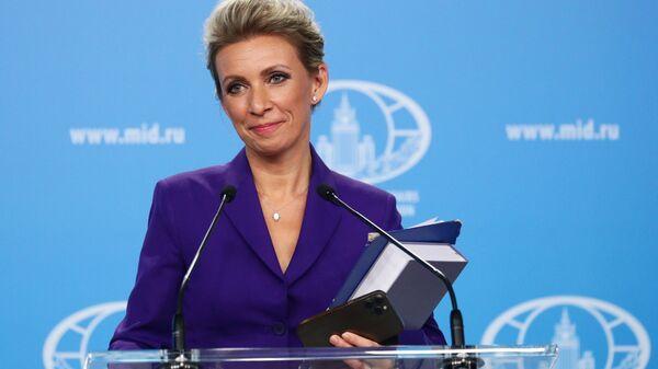 Официальный представитель Министерства иностранных дел России Мария Захарова - Sputnik Polska