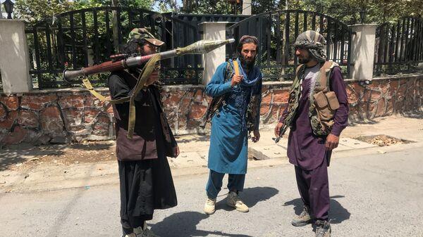 Боевики Талибана* в Кабуле - Sputnik Polska
