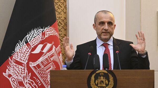 Вице-президент Афганистана Амрулла Салех на мероприятии в президентском дворце Афганистана в Кабуле  - Sputnik Polska