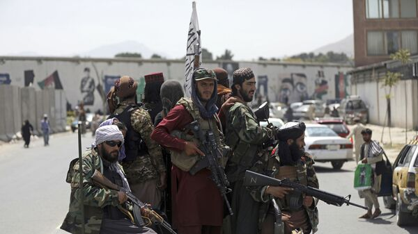 Боевики Талибана* в Кабуле, Афганистан - Sputnik Polska