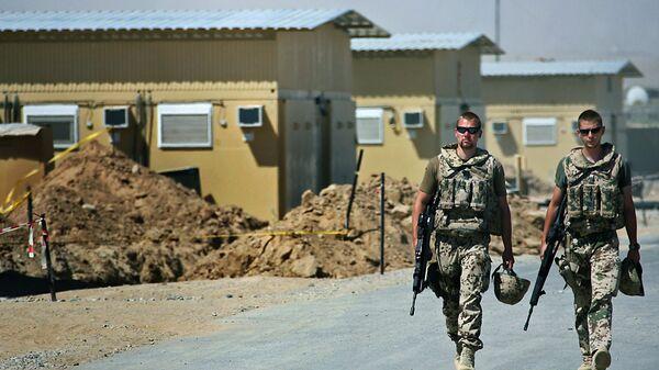 Немецкие военнослужащие на военной базе Бундесвера Мармал в городе Мазари-Шариф, Афганистан - Sputnik Polska