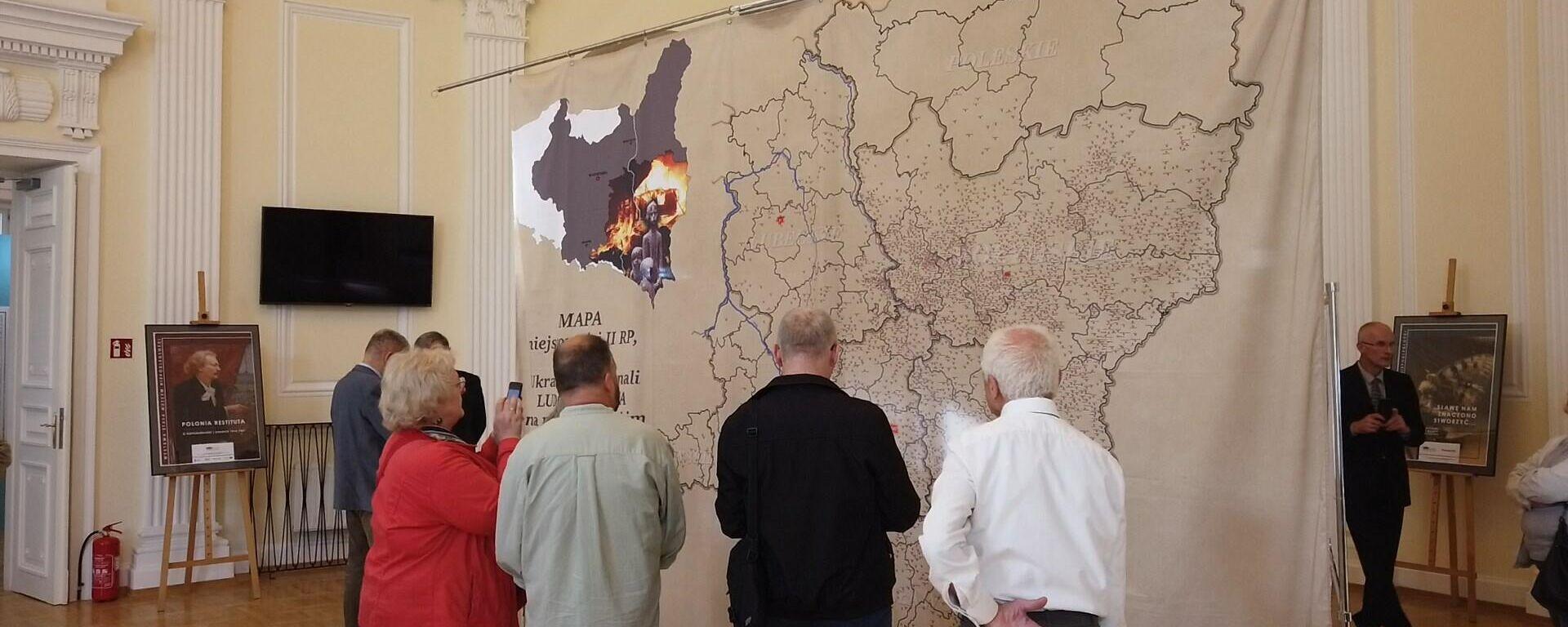 Mapa zbrodni ukraińskich w Muzeum Niepodległości - Sputnik Polska, 1920, 31.08.2021