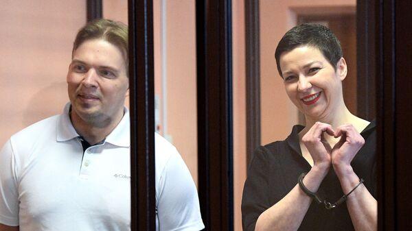 Maria Kolesnikowa i Maksim Znak - Sputnik Polska