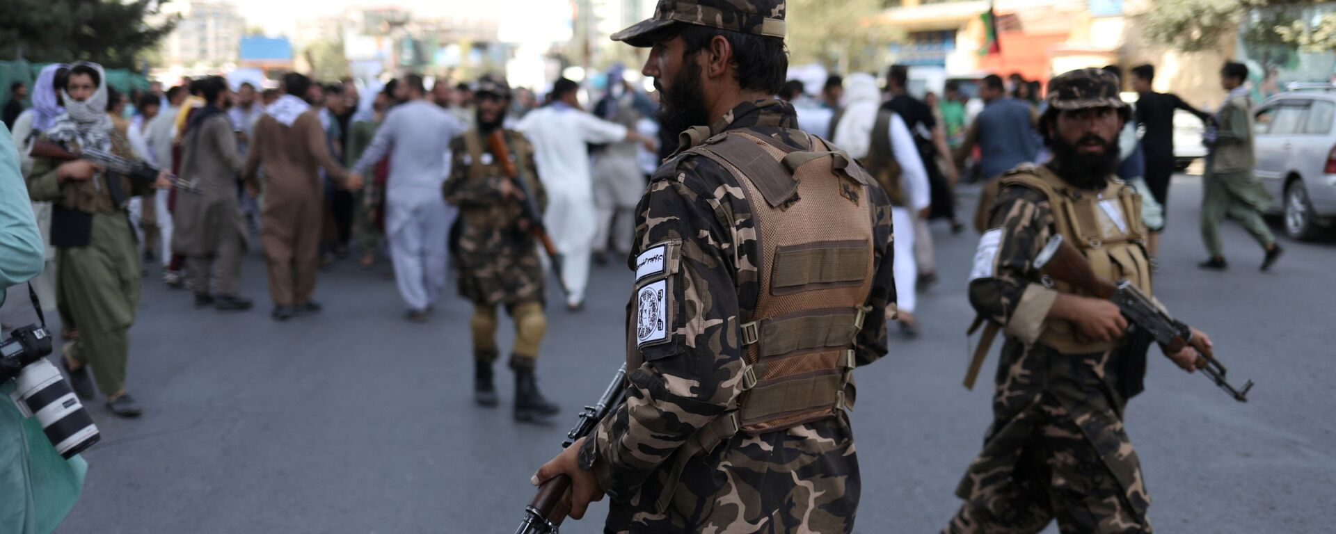 Żołnierze talibscy podczas protestu w Kabulu, Afganistan - Sputnik Polska, 1920, 07.09.2021