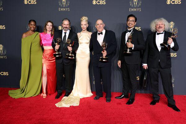 Zwycięzcy nagród podczas 73. ceremonii rozdania nagród Emmy w Los Angeles - Sputnik Polska