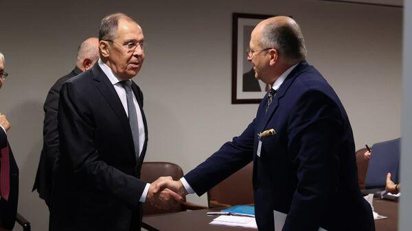 Встреча Сергея Лаврова и Збигнева Рауа  в Нью-Йорке - Sputnik Polska