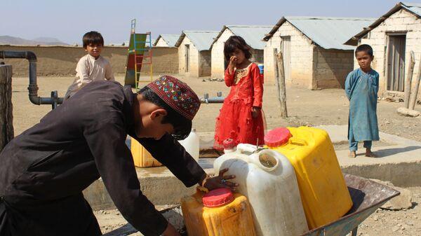 Лагерь беженцев в Хосте, Афганистан - Sputnik Polska