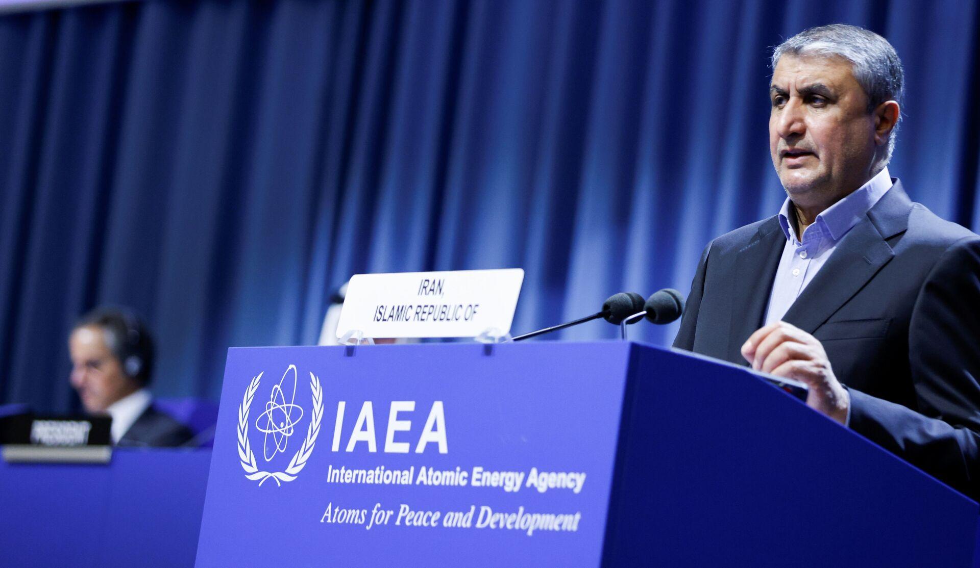 Wiceprezydent i szef Irańskiej Organizacji Energii Atomowej (AEOI) Mohammad Eslami - Sputnik Polska, 1920, 30.09.2021