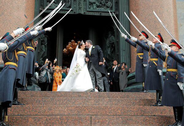 Ślub Georgija Michajłowicza Romanowa w Petersburgu - Sputnik Polska