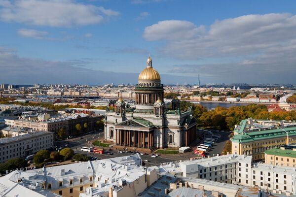 Sobór św. Izaaka w centrum Petersburgu - Sputnik Polska