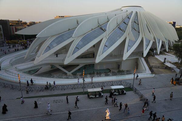 Pawilon Zjednoczonych Emiratów Arabskich na Wystawie Światowej Expo-2020 w Dubaju, ZEA. - Sputnik Polska