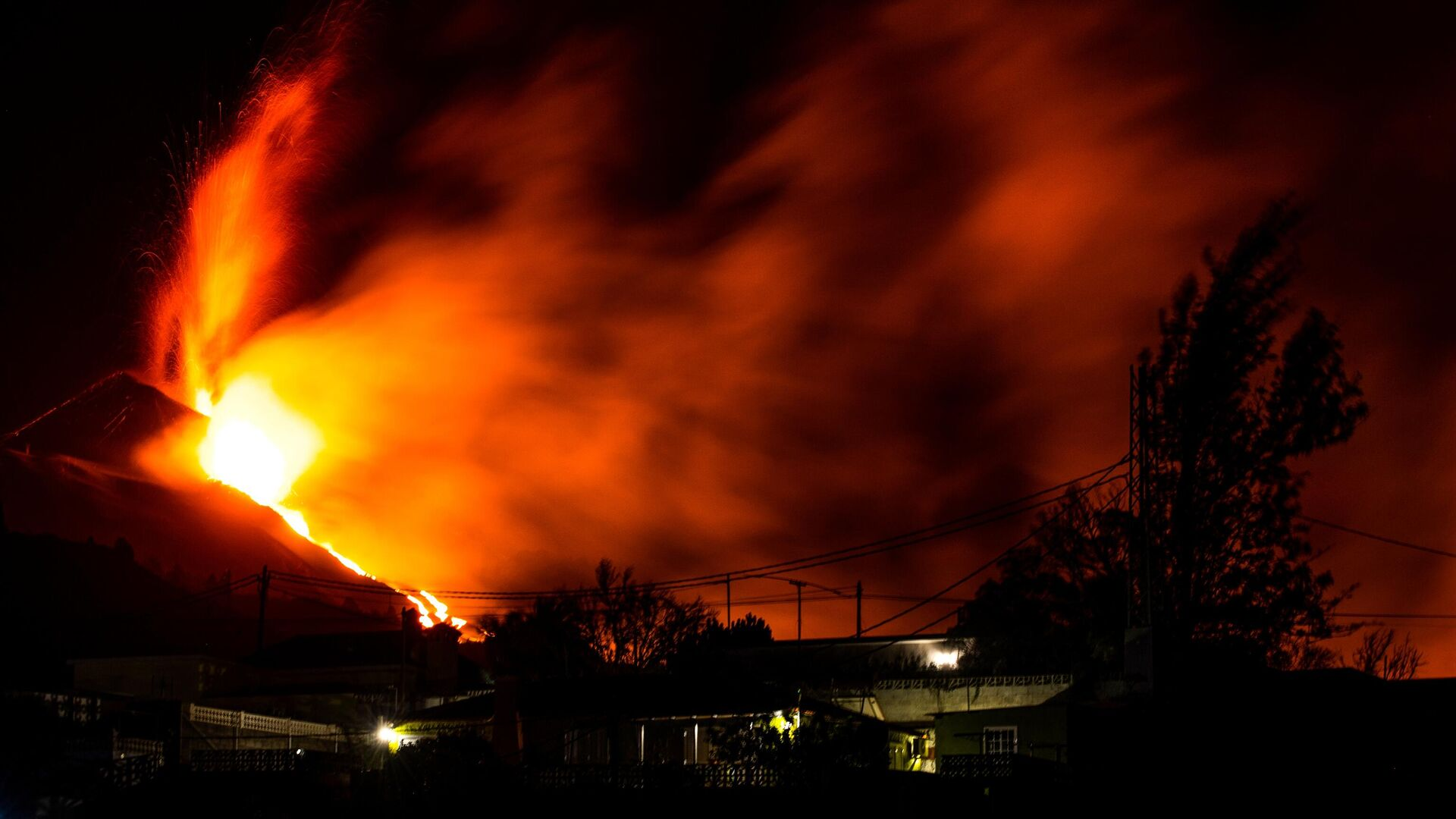 Erupcja wulkanu na wyspie La Palma - Sputnik Polska, 1920, 10.10.2021