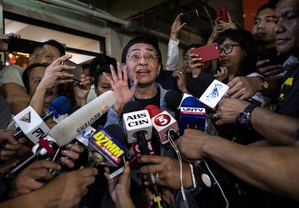 Filipińska aktywistka Maria Ressa – laureatka pokojowej Nagrody Nobla 2021. - Sputnik Polska