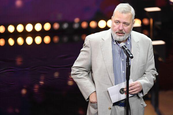 Rosyjski dziennikarz Dmitrij Muratow – laureat pokojowej Nagrody Nobla 2021. - Sputnik Polska