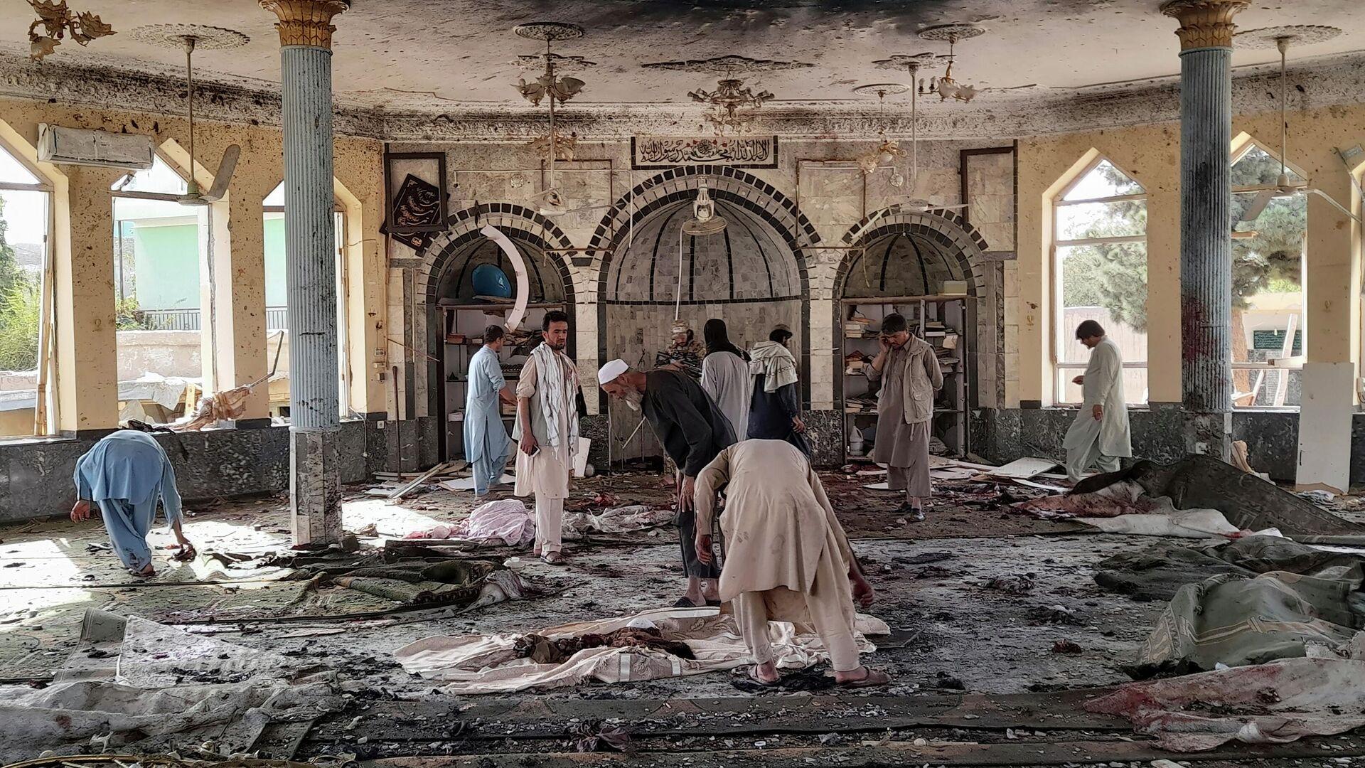 Wybuch w meczecie w Afganistanie w prowincji Kunduz - Sputnik Polska, 1920, 08.10.2021