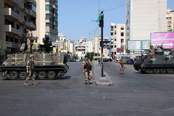 Żołnierze na ulicach Bejrutu, Liban. - Sputnik Polska