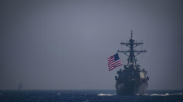 Эсминец ВМФ США USS Ross (DDG 71) в Средиземном море - Sputnik Polska