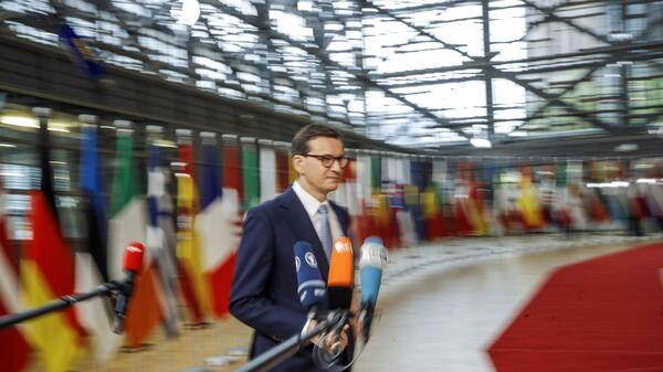 Премьер-министр Польши Матеуш Моравецки прибывает на саммит лидеров ЕС в Брюссель - Sputnik Polska