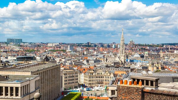 Widok na Brukselę, Belgia - Sputnik Polska
