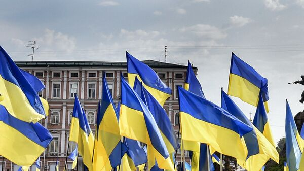 Ukraińska flaga, Kijów - Sputnik Polska