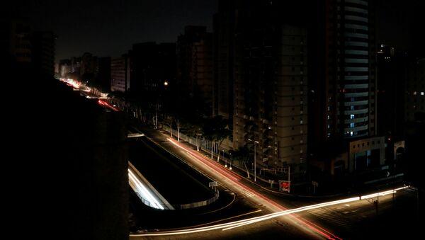 Caracas podczas awarii systemu energetycznego. - Sputnik Polska