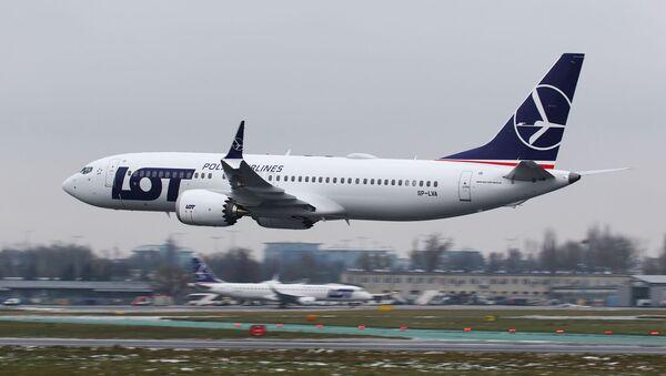 Boeing 737 MAX 8 polskich linii lotnicych LOT - Sputnik Polska