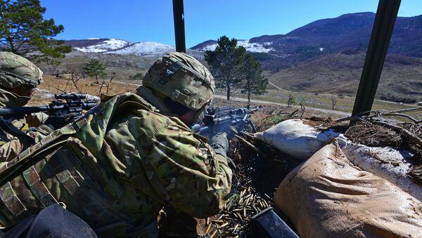Amerykańscy desantowcy podczas ćwiczeń wojskowych NATO w Słowenii - Sputnik Polska