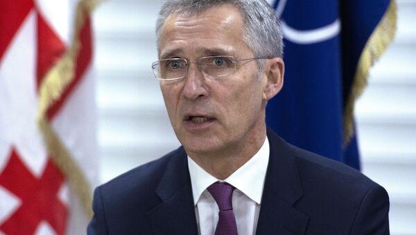Sekretarz generalny NATO Jens Stoltenberg w Gruzji - Sputnik Polska