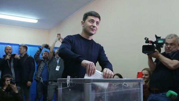 Kandydat na prezydenta Ukrainy, aktor Wołodymyr Zełenski - Sputnik Polska