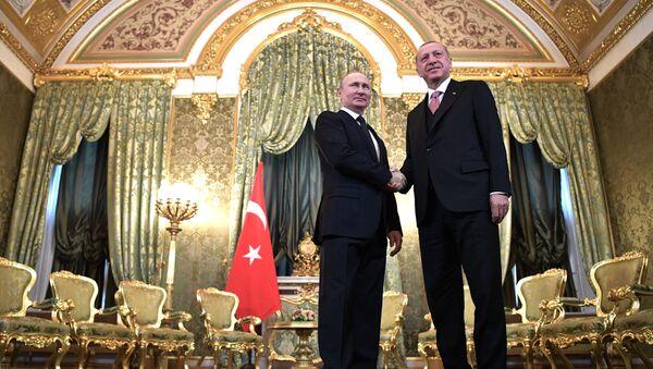 Putin i Erdogan na Kremlu - Sputnik Polska