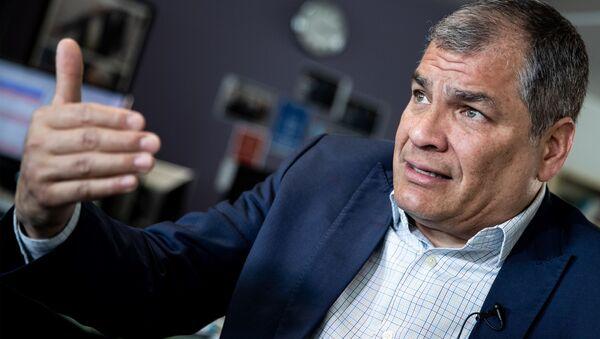 Były prezydent Ekwadoru Rafael Correa - Sputnik Polska