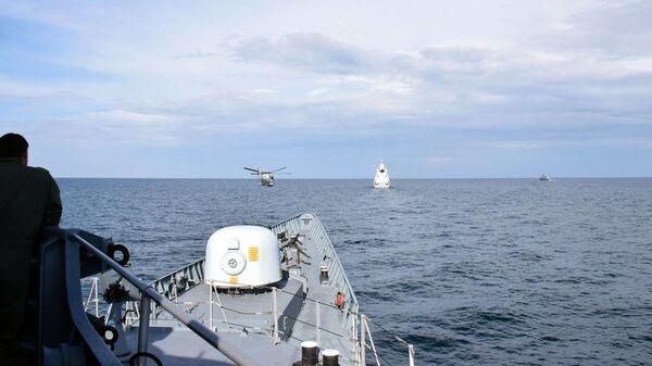 Wspólne ćwiczenia marynarki wojennej Ukrainy i okrętów NATO na Morzu Czarnym - Sputnik Polska