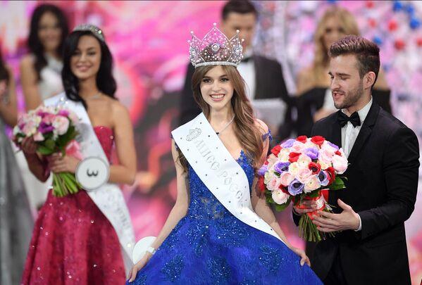 Miss Rosji 2019 Alina Sańko (Azow) podczas ceremonii wręczenia nagród finalistkom konkursu Miss Rosji 2019 w Barvikha Luxury Village - Sputnik Polska