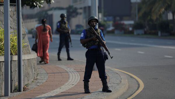 Żołnierz na ulicy Kolombo, Sri Lanka - Sputnik Polska