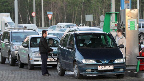 Stacja benzynowa firmy Belneftekhim w Mińsku - Sputnik Polska