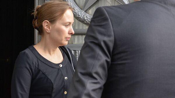 Ambasador Polski Katarzyna Pełczyńska-Nałęcz wychodzi z budynku MSZ Rosji - Sputnik Polska