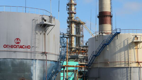 Mozyrska rafineria ropy naftowej na Białorusi - Sputnik Polska