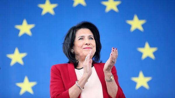 Prezydent Gruzji Salome Zurabiszwili - Sputnik Polska