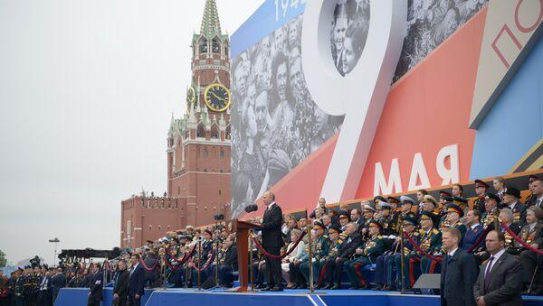 Przemówienie Władimira Putina podczas Parady Zwycięstwa na Placu Czerwonym  - Sputnik Polska