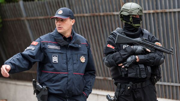 Policja pod budynkiem Najwyższego Sądu Wojskowego Czarnogóry - Sputnik Polska