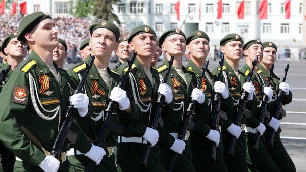 Uczestnicy defilady wojskowej w Samarze, poświęconej 74. rocznicy Zwycięstwa w Wielkiej Wojnie Ojczyźnianej - Sputnik Polska