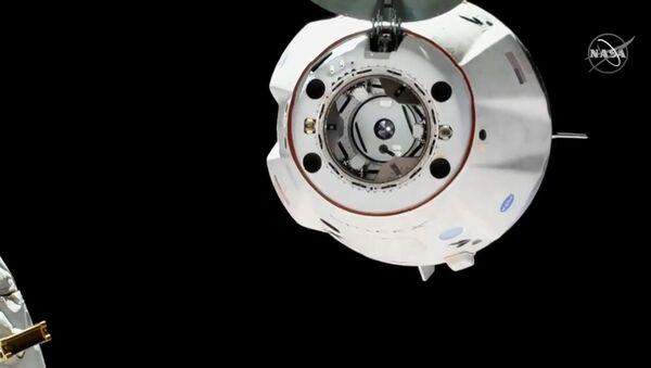 Oddokowanie statku Dragon od MSK - Sputnik Polska