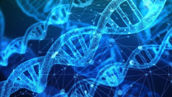 Artystyczny obraz cząsteczek DNA - Sputnik Polska