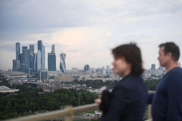Punkt widokowy na Wzgórzach Worobiowych w Moskwie  - Sputnik Polska