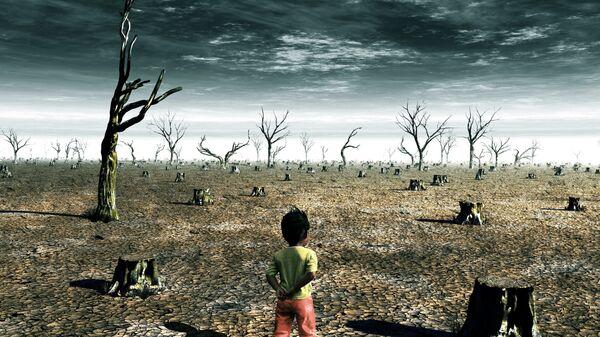 Dziecko w pustyni - Sputnik Polska