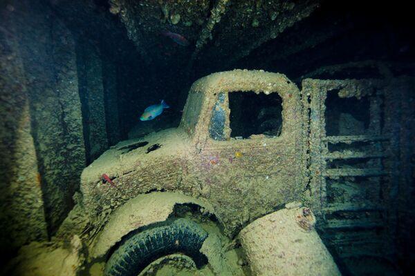 """Ładunek statku handlowego """"Thistlegorm"""", który został zatopiony w 1941 roku, jest jednym z najbardziej wyjątkowych podwodnych artefaktów w Zatoce Sueskiej - Sputnik Polska"""