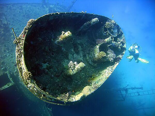 """Statek """"Giannis D."""", który wpłynął na rafę Abu Nuhas w Morzu Czerwonym - Sputnik Polska"""
